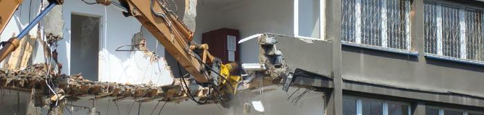 Демонтаж старых домов. Вывоз строительного мусора Санкт-Петербург